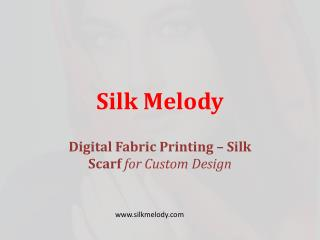 Fabric Printing Silk Scarves
