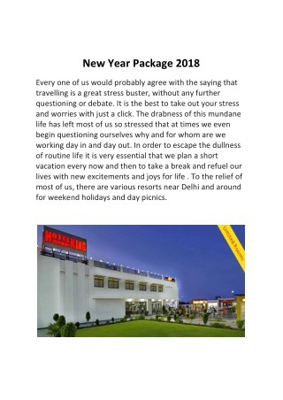 New Year 2018 Packages Near Delhi