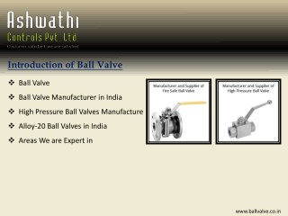 Ball Valve - A Flow Control Solution