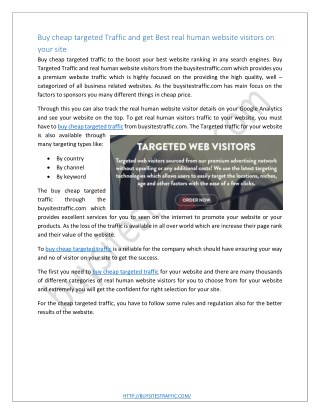 Rumored Buzz on Buy Web Traffic Visitors