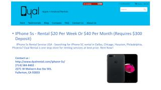IPhone 5s Rental Service USA