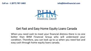 Get Fast and Easy Home Equity Loans Canada