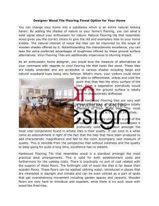 Designer Natural Wood Tile Flooring Langley