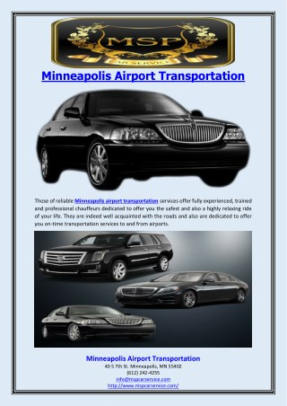 Minneapolis Airport Transportation