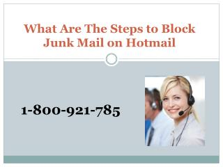 What Are The Steps to Block Junk Mail on Hotmail
