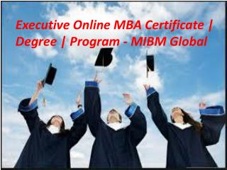 Executive Online MBA Certificate | Degree | Program master degree programme