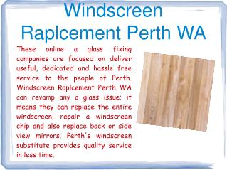 Windscreen Raplcement Perth WA
