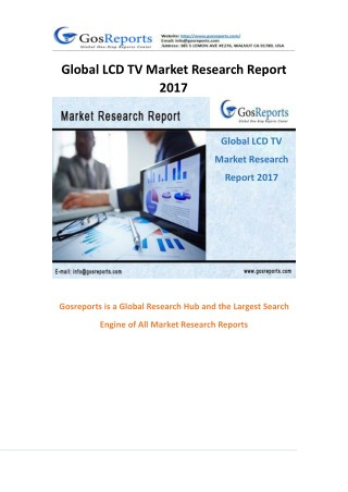 Global LCD TV Market Research Report 2017