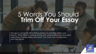 5 Words You Should Trim Off Your Essay