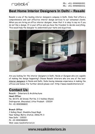 ppt best home interior designers in delhi resaiki powerpoint