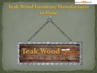 Best Teak Wood Furniture Manufacturer in Pune   Best Teak Wood Furniture in Pune   Decor My Place