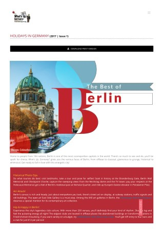 Holiday in Berlin | vacation in Germany