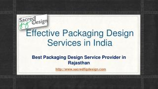 Effective Packaging Design Services in India