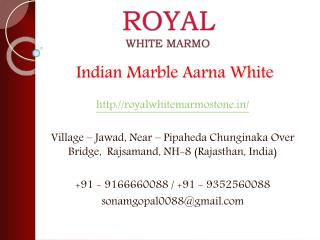 Indian Marble Aarna White