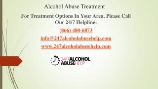Alcohol Abuse Treatment Centers