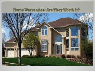 Home Warranties: Are They Worth It?