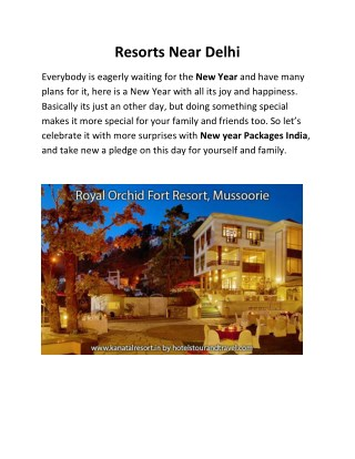 Royal Orchid Fort Resort - Mussoorie