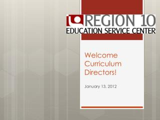 Welcome Curriculum Directors!