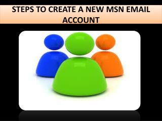 How to create an MSN email account