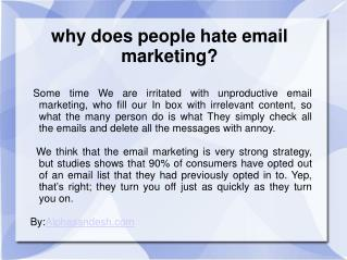 why does people hate email marketing?