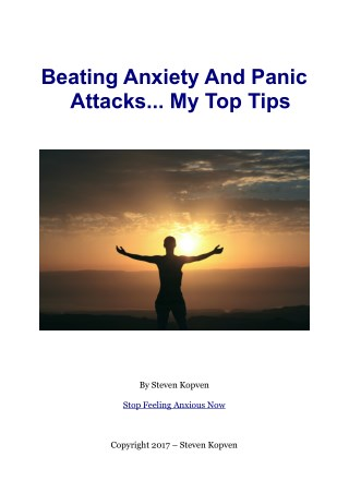 My Tips For Dealing With Anxiety And Panic Attacks