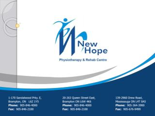 Best Physiotherapy in Brampton, On (905) 846-4000 - New hope clinic