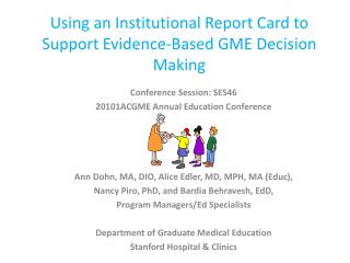 Using an Institutional Report Card to Support Evidence-Based GME Decision Making