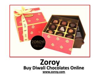 Buy Online Chocolates for Diwali - Zoroy