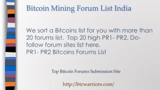 Bitcoin Community Forum India