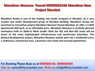 Marathon Nexzone 09999684166 Panvel Luxury Apartments