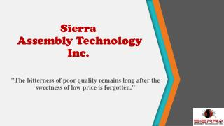 Capabilities of PCB's - Sierra Assembly