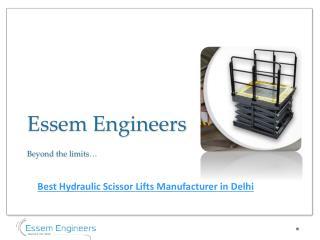 India'a Best Hydraulic Scissor Lift Manufacturer & Supplier
