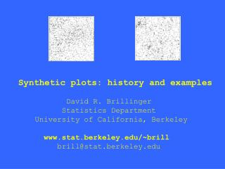 Synthetic plots: history and examples              David R. Brillinger             Statistics Department       Universit