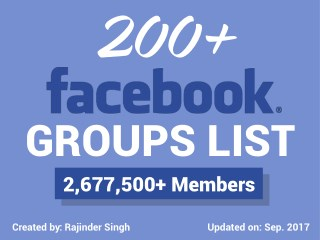 200 Facebook Groups (Updated Social Media Groups List) 2017