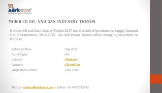 Morocco Oil and Gas Industry Trends  2025