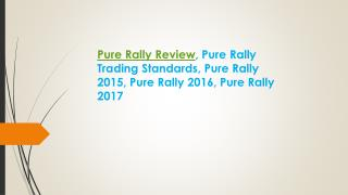 Pure Rally Review, Pure Rally Trading Standards