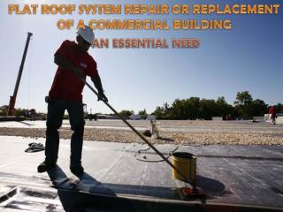 Flat Roof System Repair or Replacement of A Commercial Building- An Essential Need