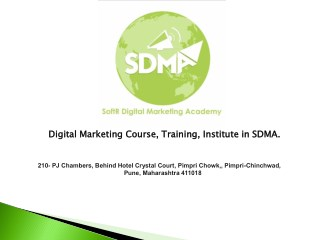 Digital Marketing Course At SDMA
