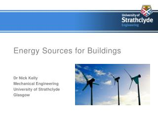 Energy Sources for Buildings