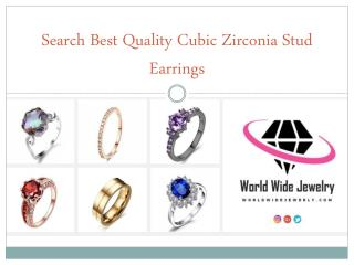 Search Best Quality Cubic Zirconia Stud Earrings