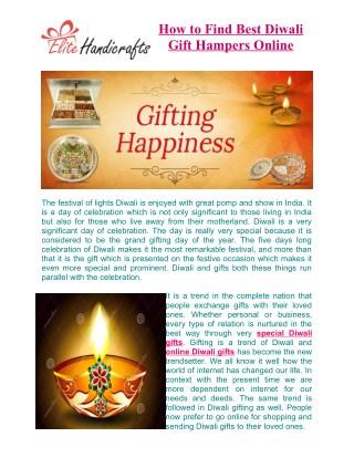 How to Find Best Diwali Gift Hampers Online