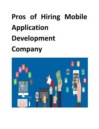 Pros of Hiring Mobile Application Development Company
