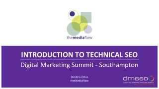 Introduction to SEO TheMediaFlow Workshop Digital Marketing Summit Southampton