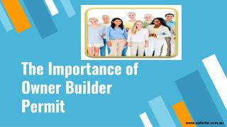 The Importance of Owner Builder Permit