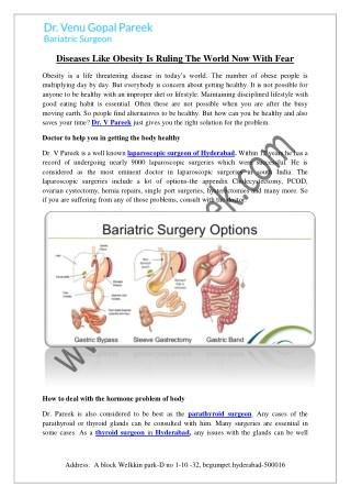 Dr v pareek @ laparoscopic surgeon telangana hyderabad
