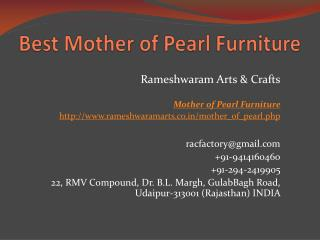 Best Mother of Pearl Furniture