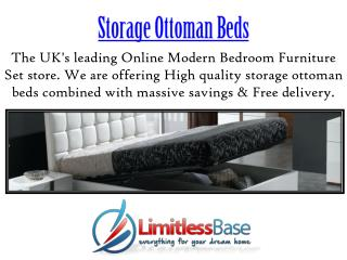 Excellent Storage Ottoman Beds from Limitless Base