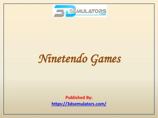 3DS Emulator-Ninetendo Games