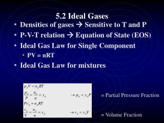 5.2  Ideal Gases