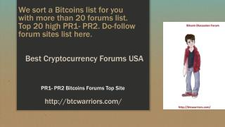 Best Cryptocurrecy Forums USA